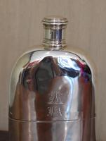 Fine Early Victorian Solid Silver Hip Flask (3 of 8)