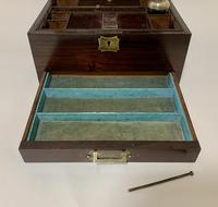 Antique Victorian Rosewood Vanity Jewellery Box (7 of 16)