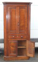 1850's Oak Corner Cupboard with Double Doors and Drawer (4 of 5)