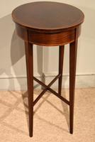 19th Century Mahogany Oval Lamp Table (5 of 5)