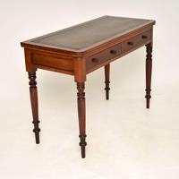 Antique Victorian  Mahogany  Leather Top Writing Table / Desk (5 of 9)