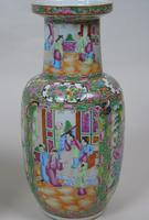 Good Large Pair of Chinese Famille Rose Rouleau Vases 19th Century (8 of 11)