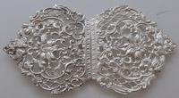 Large Victorian 1895 Hallmarked Solid Silver Nurses Belt Buckle Matron (6 of 8)