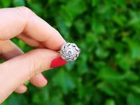 1.39ct Diamond & 18ct White Gold Cluster Ring - Vintage c.1950 (2 of 9)