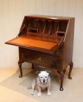 Walnut Chinoiserie Bureau (3 of 10)
