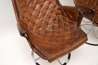 Pair of Vintage Leather Swivel 'Jetson' Armchairs by Bruno Mathsson (9 of 11)
