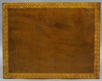 A Sheraton period, harewood work table (6 of 6)