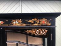 Antique Chinoiserie Lacquered Display Cabinet (3 of 9)