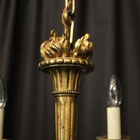 French Gilded Bronze 4 Light Antique Chandelier (9 of 10)