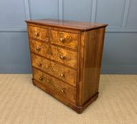 Victorian Burr Walnut Chest of Drawers (10 of 13)