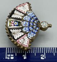 Micro Mosaic Fan Shaped Brooch (11 of 11)