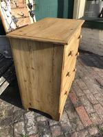 Antique Vintage Pine Small Three Drawer Chest of Drawers (2 of 8)