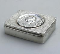 Superb Solid Silver Art Nouveau Maiden Table Snuff Box P Bryk c.1902 (3 of 8)