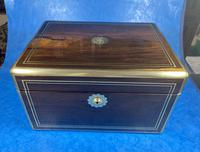 Georgian  Rosewood Brassbound Vanity Box (2 of 34)