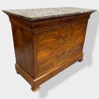 Figured Walnut & Marble Top Commode (5 of 16)