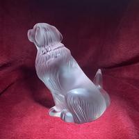 "Lalique ""Golden Retriever"" Sculpture with Original Label (3 of 9)"