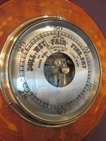 Edwardian Antique Fruitwood Inlaid Barometer (2 of 7)