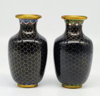 Vintage Small Chinese Cloisonne Vase (2 of 5)