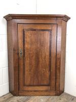 Georgian Oak Wall Hanging Corner Cupboard