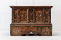 18th Century Painted Trunk on Stand (2 of 13)
