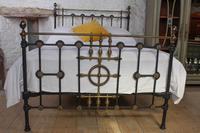Very Nice  All Original Victorian Brass & Iron Double Bed (2 of 7)
