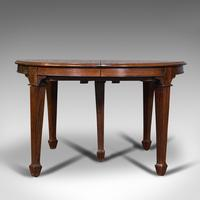 Antique Colonial Campaign Table, Indian, Rosewood, Dining, Extending, Victorian (5 of 12)
