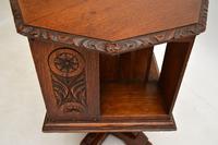 Small Antique Arts & Crafts Oak Revolving Bookcase (6 of 10)