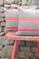 Early 20th Century, Antique Swedish Woven Textile, Geometric Patterned 're-stuffed cushions' (9 of 20)