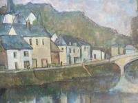 Oil on Canvas Laid on Board by the River Loire Listed Artist John Denahy (10 of 10)