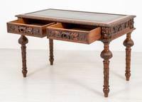 Victorian Carved Oak Writing Table (5 of 8)