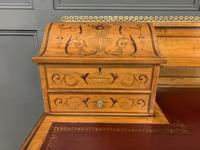 Inlaid Satinwood Carlton House Desk by Jas Shoolbred (18 of 25)