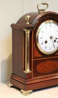 Mahogany and Inlay Bracket Clock (6 of 13)