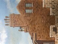"""Fine Oil Painting Architectural Entrance """"Micklegate Bar"""" York Signed F Chilton (12 of 31)"""