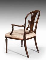 Pair of George III Period Mahogany Elbow Chairs by Robert Manwaring (4 of 7)
