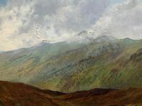 (1of2) Huge Exceptional 19thc Snowdonia Welsh Mountain Landscape Oil Painting (7 of 15)