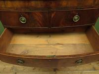 Antique Bow Front Mahogany Chest of Drawers, Country House Chest (10 of 16)