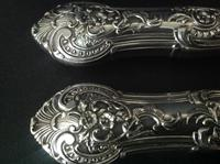 Pair of Antique Victorian Silver Serving Forks - 1873 (8 of 8)