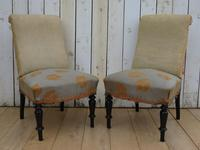 Pair of Antique French Slipper Chairs (9 of 9)