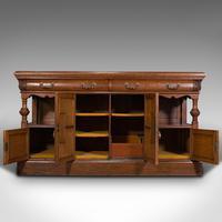 Large Antique Dresser Base, Scottish, Oak, Buffet, Server, Late Victorian, 1880 (3 of 12)