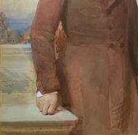 Frederick Cruickshank Fine Watercolour Portrait Painting of Gent (8 of 12)
