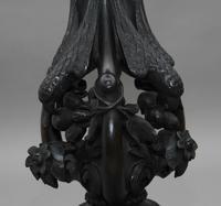 19th Century carved mahogany jardinere (4 of 10)