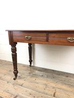Edwardian Mahogany Two Drawer Side Table (10 of 11)