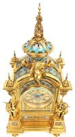 Incredible Antique French Champlevé Ormolu Bronze 8 Day Striking Mantel Clock c.1860 (6 of 13)