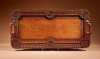 Two Colonial Very Fine Carved Wooden Trays (8 of 13)