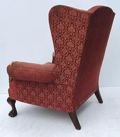 Irish Chippendale Design 19th Century Mahogany Wing Back Armchair (3 of 9)