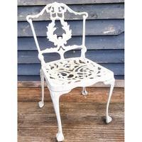 Aluminium Vintage White Painted Five Piece Patio Set (10 of 12)
