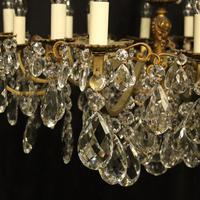Italian Gilded Bronze 16 Light Antique Chandelier (5 of 10)