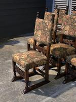 Set of 8 French Oak Dining Chairs (11 of 18)