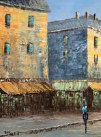Fine Large Original Vintage Parisian Street Cityscape Impressionist Oil Painting (3 of 11)