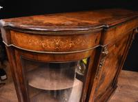 Victorian Antique Credenza Cabinet Bow End 1860 (2 of 8)